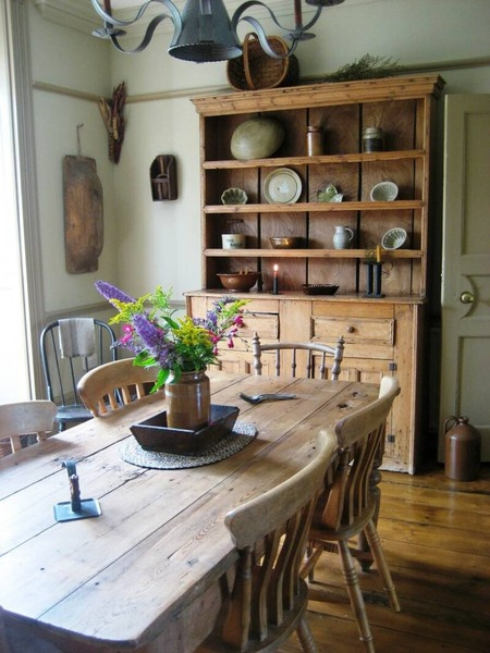 Primitive Inspired Dining Room Love The Hutch