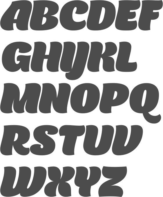 MyFonts: Bubble fonts