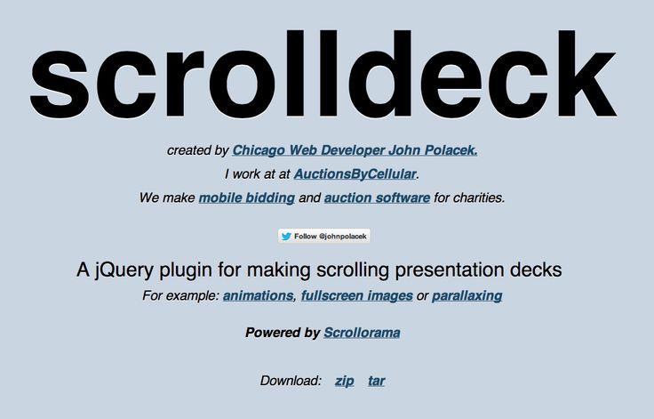 Scrolldeck / Scrollorama / Parallax / jQuery ScrollTo