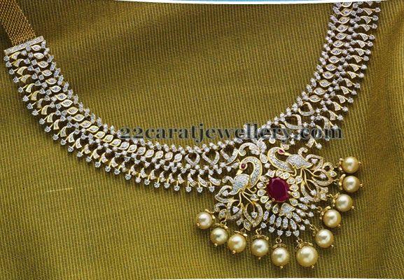 Jewellery Designs: Mind Blowing Peacock Diamond Set