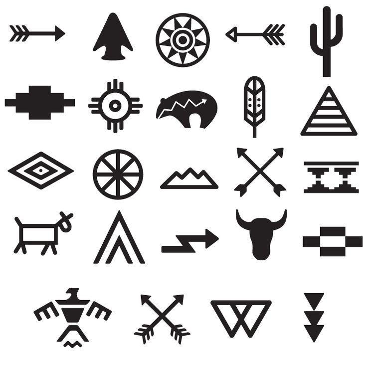Set Symbols Tattoo Tribal 668 Tribal Symbols Tattoo Tribal Symbols Tattoo Set Tribal Tattoos Native American Tribal Symbols American Indian Art Design