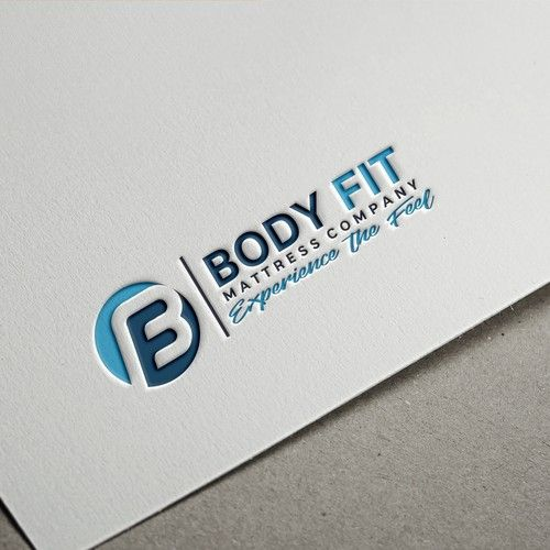 Body fit Mattress company or BF Mattress company - Creative Logo we manufacture memory foam, latex, hybrid mattresses