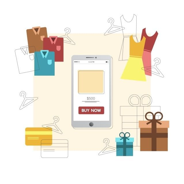 Online Shopping Items Online Shopping Items Png And Vector With Transparent Background For Free Download Business Icon Banner Design Prints For Sale