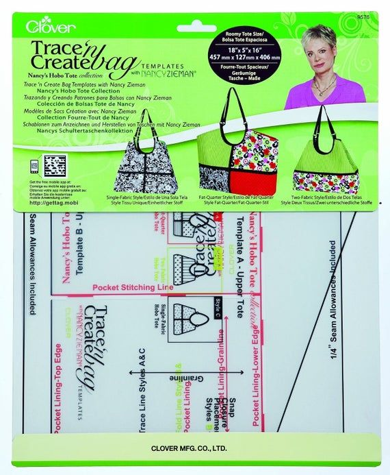 Trace N Create Hobo Bags By Clover With Nancy Zieman Sewing With Nancy Nancy Zieman Hobo Tote