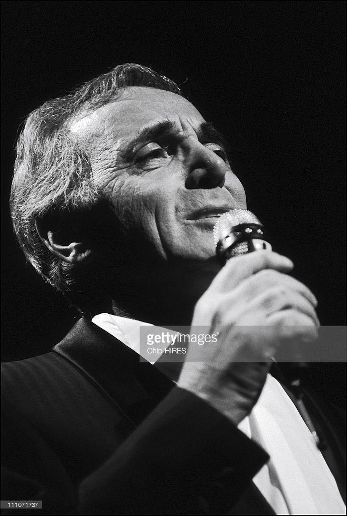 Charles Aznavour In Paris, France On September 29, 1987