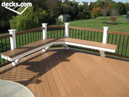 20 best Deck Ideas images on Pinterest Decking Deck benches and