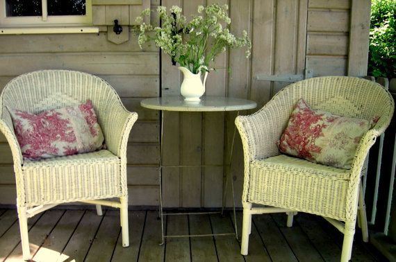 Two Home and Garden Romantic Bucolic Cushion Pilow  by Rosacabane, €45.00
