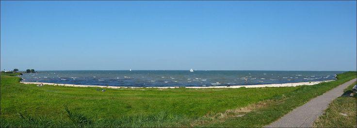 Het IJsselmeer bij Edam...