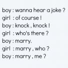 best knock knock joke ever!Best Knock Knock Jokes, Awwwww Cutest, Funny Things, Marriage Propos, Cutest Knockknock, Knockknock Jokes, Funny Quotes, Love Quotes, Fails3