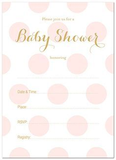 free printable baby shower invites