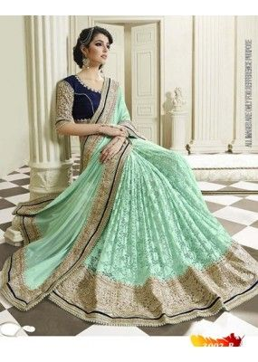Bollywood Replica - Designer Green Saree - 3002-B