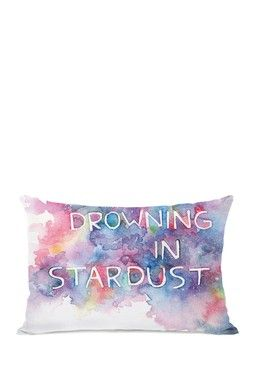 "Drowning in Stardust Bright Pillow with Zipper - 14"" x 20"""