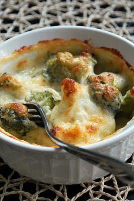 three square: Broccoli & Cauliflower Gratin.
