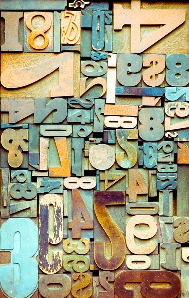 Letterpress: Weathered Beach Numbers Art Print (also comes as an iphone case!)