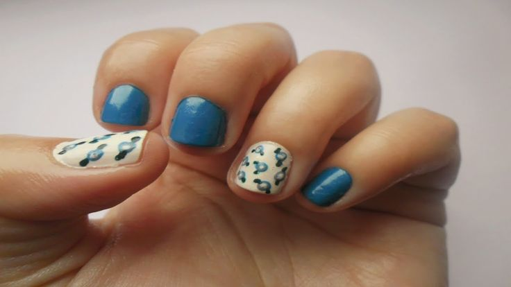 Simply Nails ▎❝Blue with Roses❞