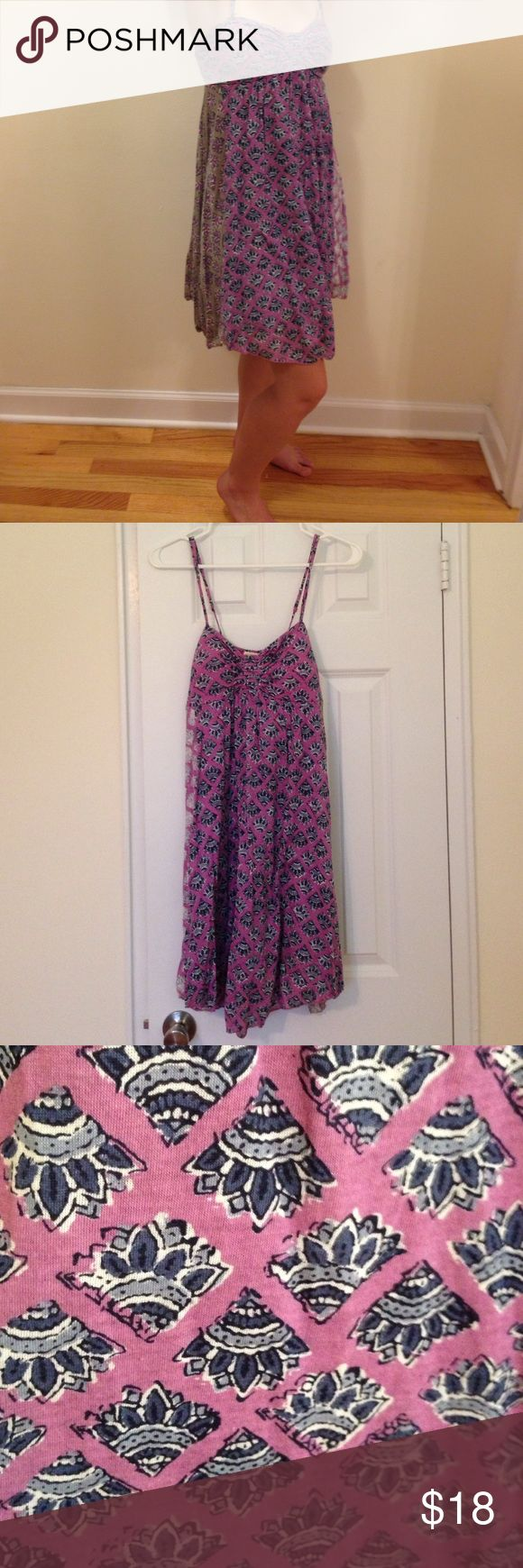 American Eagle Outfitters Sundress American Eagle Outfitters Sundress - Purple and blue pattern. Padded cups in chest are removable. Adjustable straps. Only worn once. American Eagle Outfitters Dresses