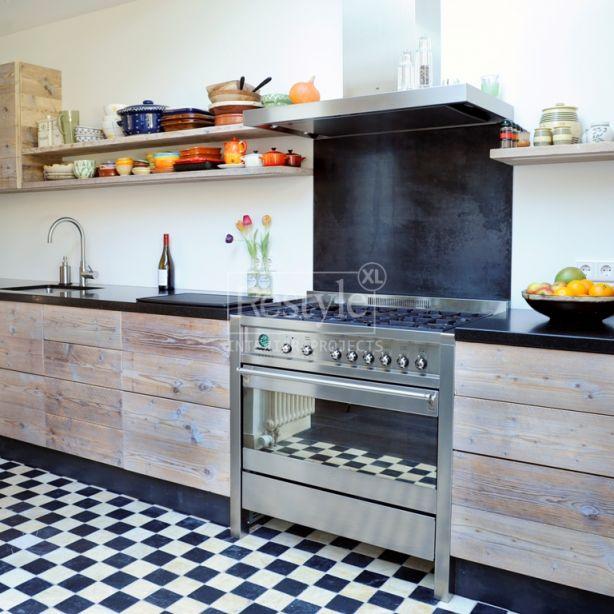 keuken steigerhout planken hoogglans wit - Google zoeken