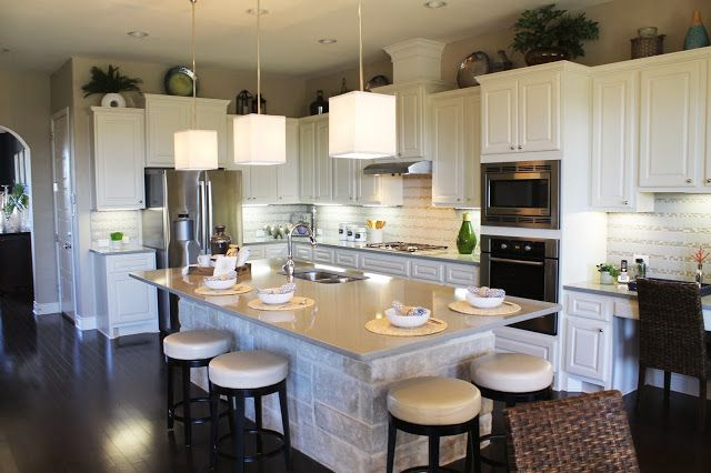 Beautiful Model Home Tour Large Open Kitchen Floor Plan Stone Faced
