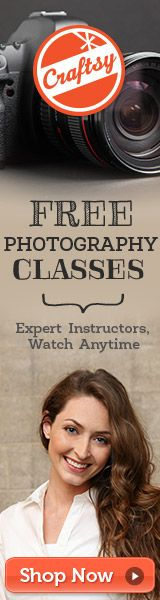 Awesome FREE photography class from Craftsy (+ 34 other classes covering a variety of topics)