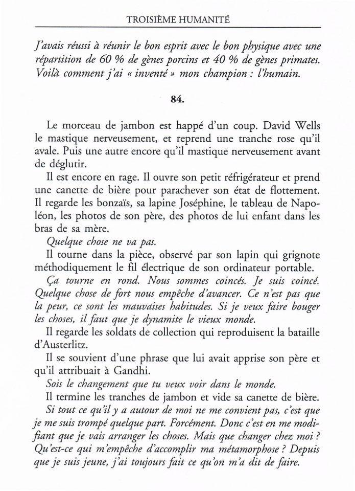 Le Bouquinovore: Extrait du roman Troisième Humanité de Bernard Werber