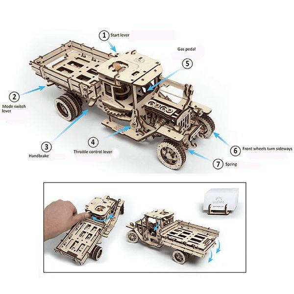 Ugears houten pick-up truck