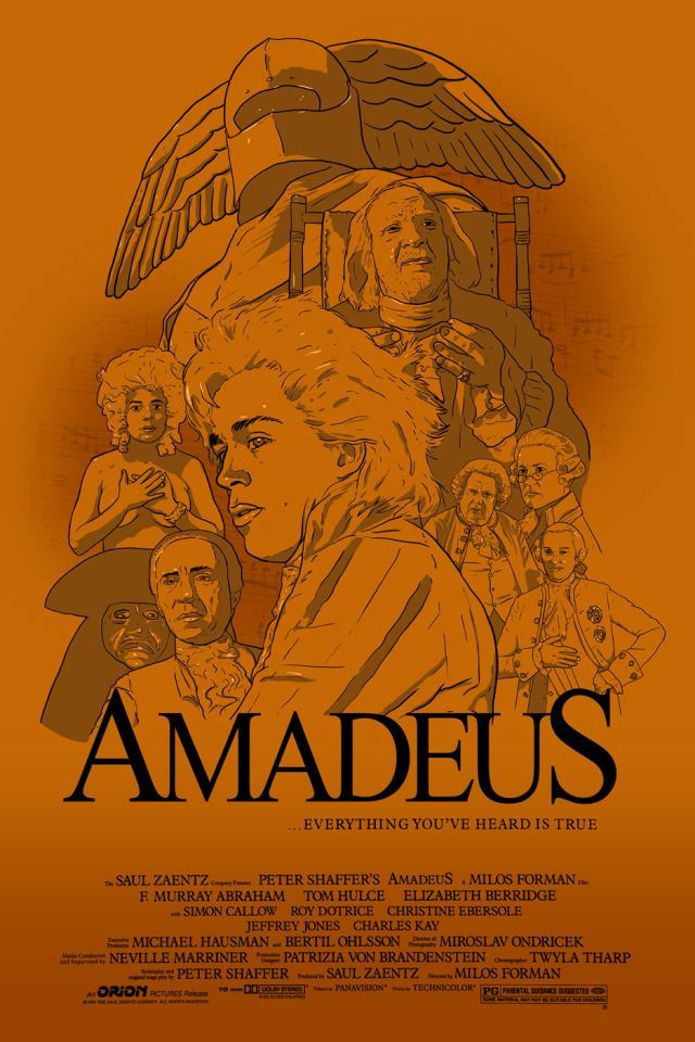 best amadeus images tom hulce movie and  finished my little fan made poster for the movie amadeus did it in an orange kind of color to work the old parchment look and because i thought it