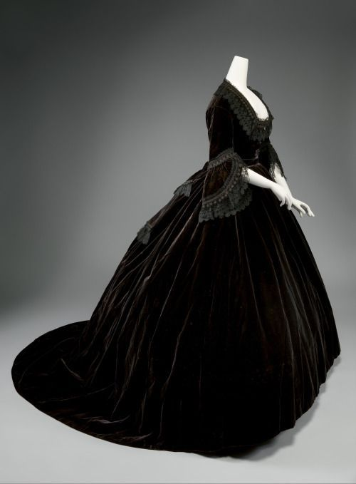 Dress ca. 1861 From the Metropolitan Museum of Art
