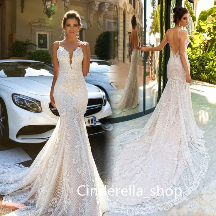Modest Charming 2017 Lace Mermaid Wedding Dresses Sexy Backless Tulle Appliqued Cathedral Garden Sleeveless Formal Bridal Gowns Fashion Robe