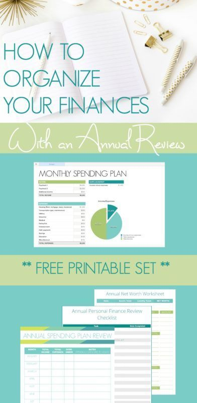 Organize Your Finances With A Yearly Review Free Printable