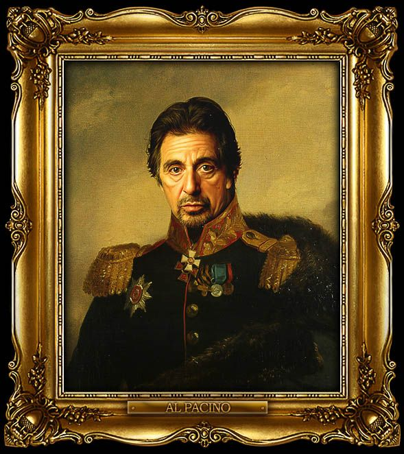 Best Replaceface By Steve Payne Images On Pinterest Portraits - If celebrities were 19th century military generals they would look like this