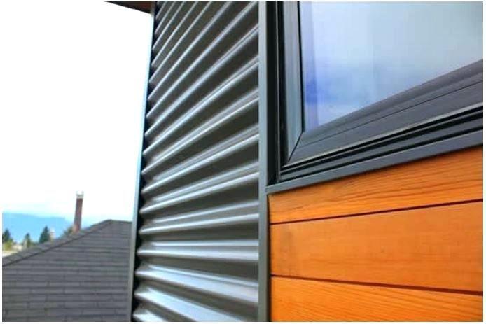 Modern House Siding Options Zinc Vinyl Intended For Metal Metal Siding House Modern House Siding House Exterior