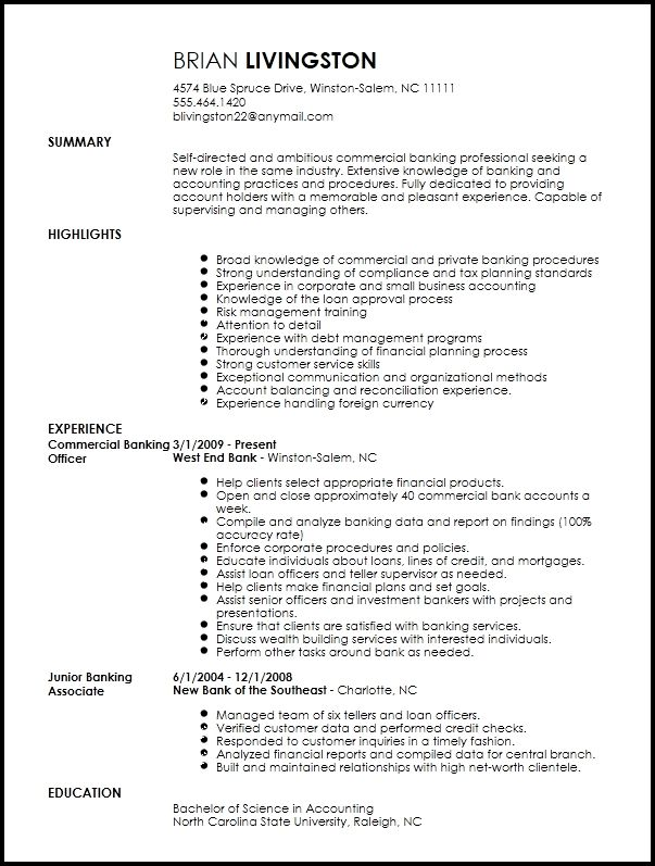 Free Professional Banking Resume Template Resume Now In 2020 Resume Template Resume Template Examples Resume Templates