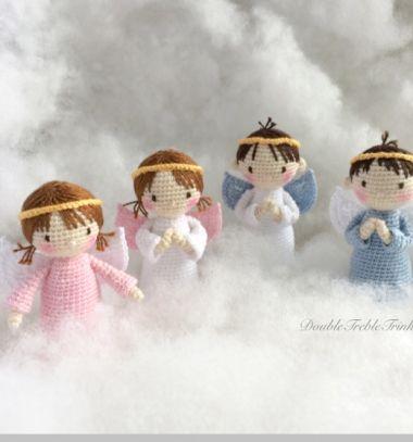 Crochet (amigurumi) angel doll - free crochet pattern // Horgolt angyalka baba (fiú és kislány) - ingyenes horgolásminta // Mindy - craft tutorial collection // #crafts #DIY #craftTutorial #tutorial #amigurumi #crochet #freeCrochetPattern #freeAmigurumiPattern