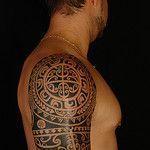 Polynesian Half Sleeve on Anthony 1 by Koru Tattoo #marquesantattooshalfsleeves