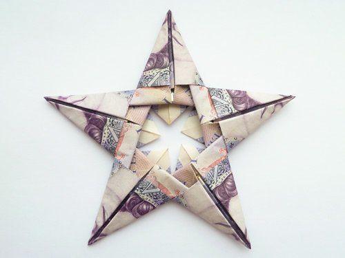 modular origami star british notes