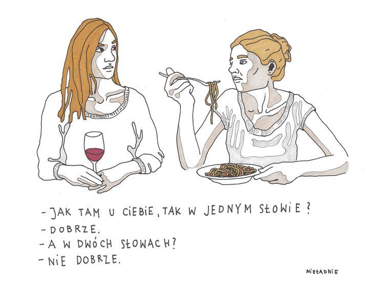 #dobrze #niedobrze #kobiecerozmowy #kobiety #nieladnie #nieladnierysuje #ilustracja #rysunki #kamila #szcześniak #illustration #drawing #sketching