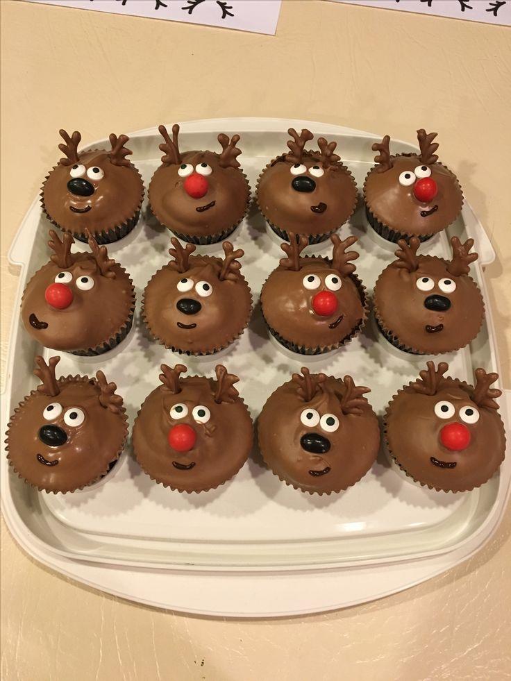 Rain deer cupcakes