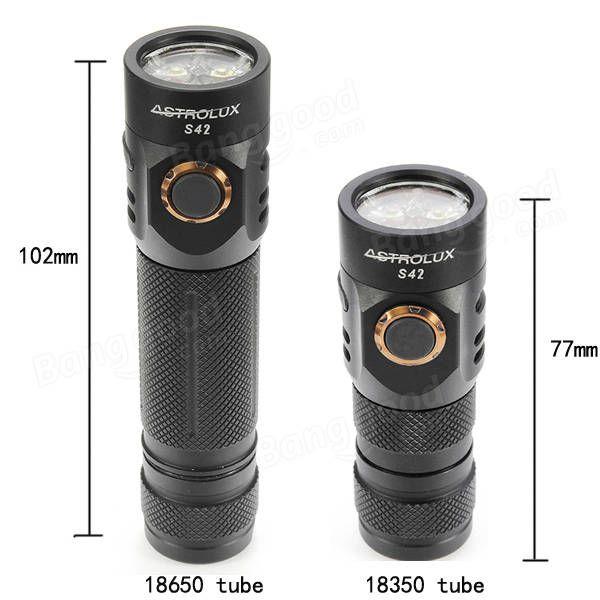 Astrolux S42 4xNichia 219C / XP-G3 2023LM Wiederaufladbare Mini LED Taschenlampe Verkauf - Banggood.com
