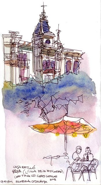 More Sketches from Barcelona by Urban Sketchers