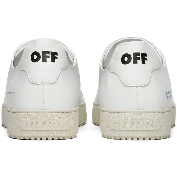 Off White c/o Virgil Abloh Low Top Sneaker ($620) ❤ liked on Polyvore featuring shoes, sneakers, off white shoes, off white sneakers, low top, low profile sneakers and champagne shoes