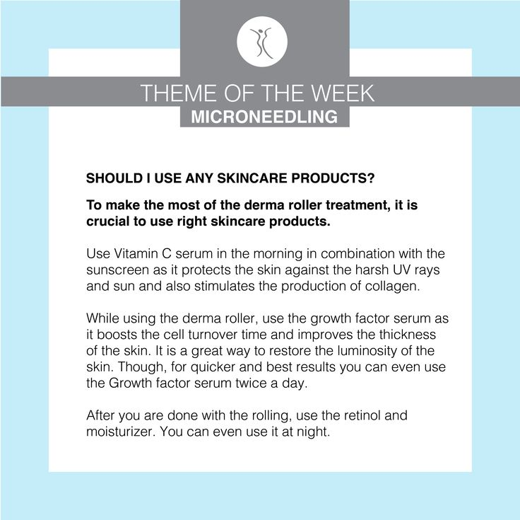 To make the most of the derma roller treatment, it is crucial to use the right skincare products! #dermacaredirect #microneedling #skincare