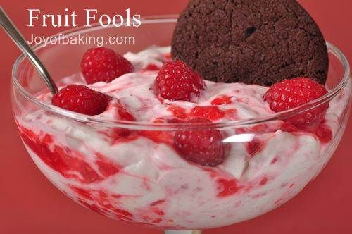Yum.  This is called a Fruit Fool.  Its made with fruit and fresh whipped Cream.  yummy and simple.