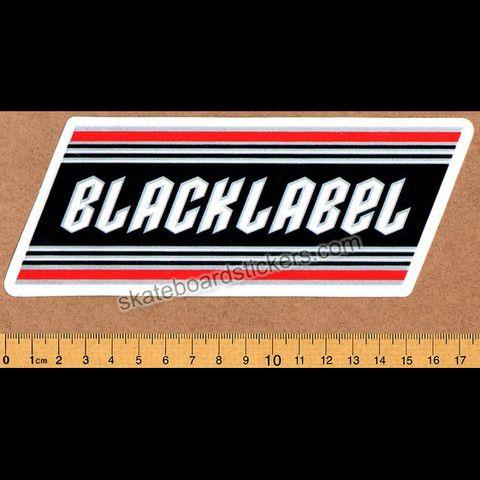 Black Label Skateboard Sticker - SkateboardStickers.com