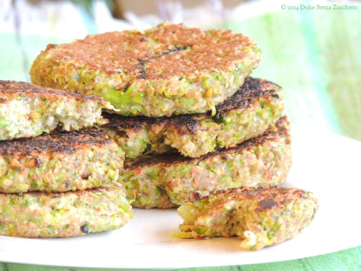 Burger Vegetale con Quinoa e Broccoli | Dolce Senza Zucchero