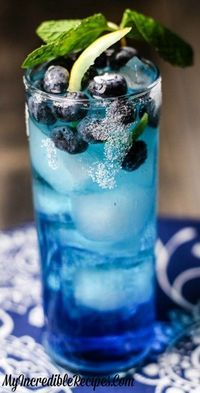 Blueberry Lemonade - Fun for an adult birthday party signature cocktail