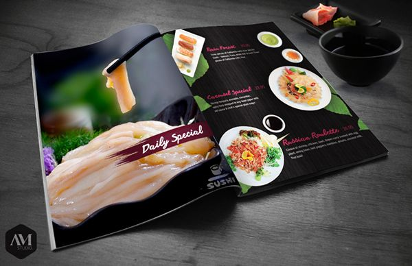 Prints // Menu on Behance by AM Studio © 2014 Creative Design & Printing Services Email: AMStudio.USA@gmail.com