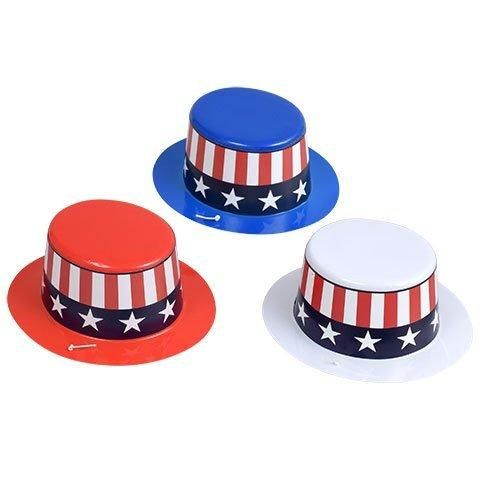 Best Seller Patriot Mini Plastic Party Hats  Red  White Blue  3- ft. packs