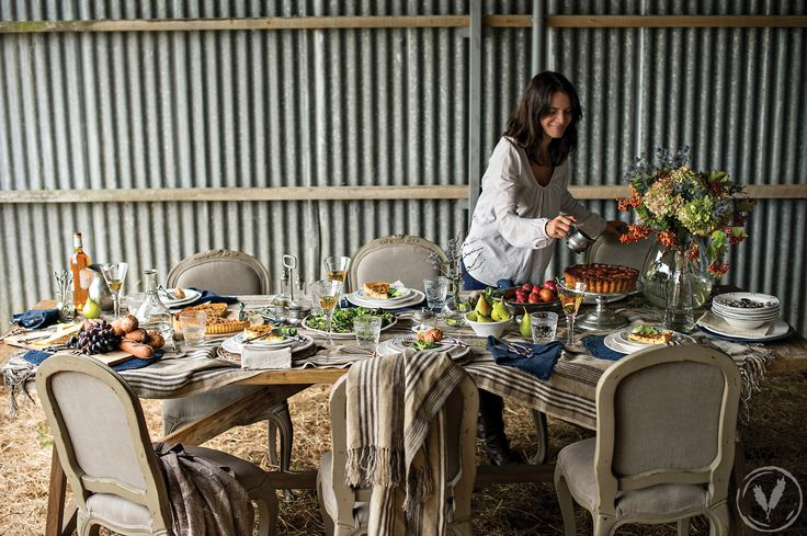 Sarah Dining Table, Glass and Pewter Cake Stand http://www.frenchcountry.co.nz/