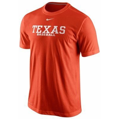 Nike Texas Longhorns Baseball Dri-FIT Practice Performance T-Shirt – Burnt  Orange