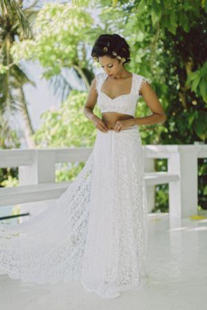White sari. Couture Rani.